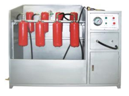fire extinguisher pressure testing and cleaning machine